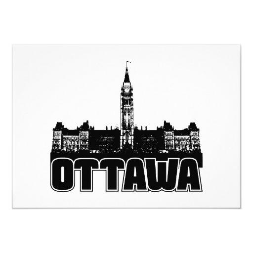 Ottawa Skyline Personalized Invitations
