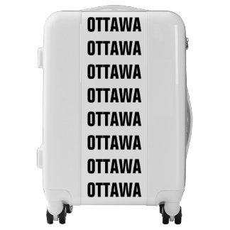 OTTAWA, Typo black Luggage