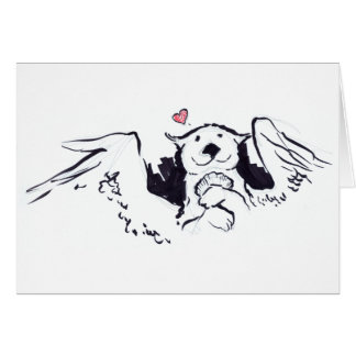 Otter Angel Card
