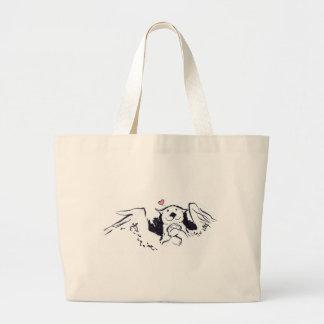 Otter Angel Jumbo Tote Bag