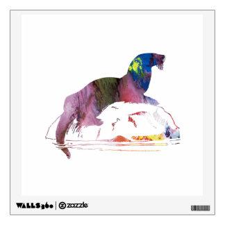 Otter art wall decal