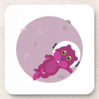 Otter Astronaut Drink Coaster