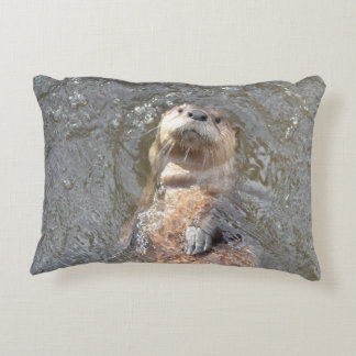 Otter Back Float Accent Pillow