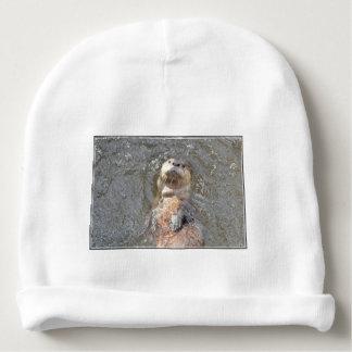 Otter Back Float Baby Beanie