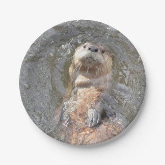 Otter Back Float Paper Plate