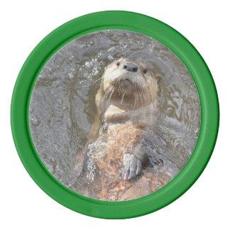 Otter Back Float Poker Chips Set