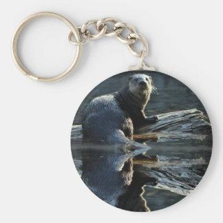 Otter Beauty Wild Otter Photo Zipper-pull Keychain