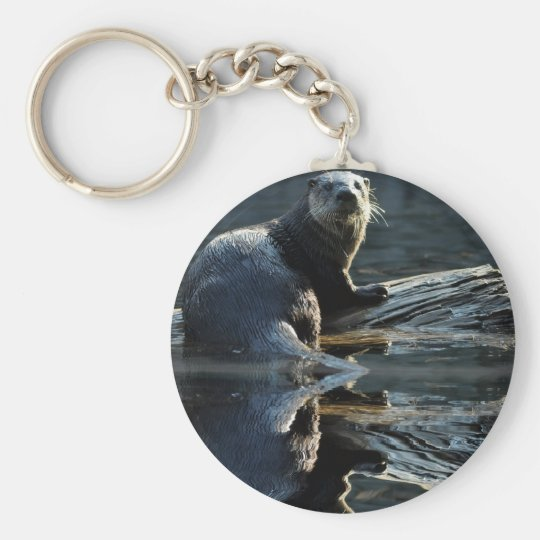 Otter Beauty Wild Otter Photography Keychain