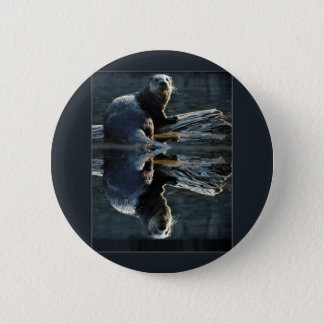 Otter Beauty Wild Sea Otter Photography Pinback Button