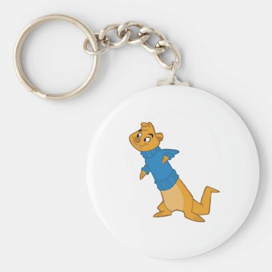 Otter Boy Blue Keychain