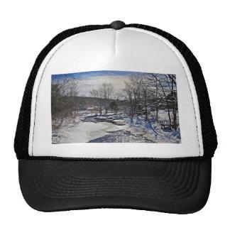 Otter Brook Winter Scene Trucker Hat