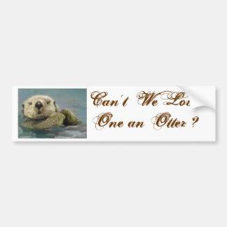Otter Bumper Sticker Car Bumper Sticker