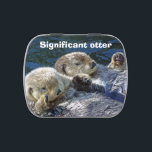 """Otter candy tin<br><div class=""""desc"""">Candy tin with photo of sea-otters and words 'Significant otter' from New Forest Pics</div>"""