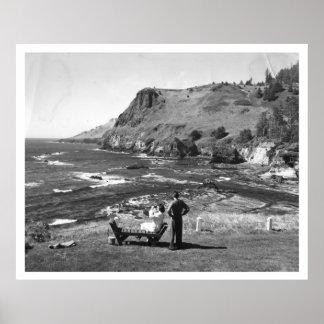 Otter Crest at Otter Rock, Oregon Vintage Poster