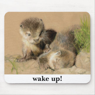 otter cubs mouse pad