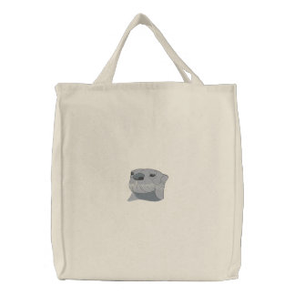 Otter Embroidered Tote Bag