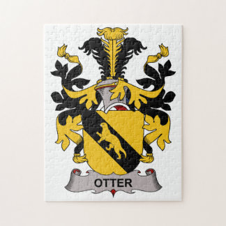 Otter Family Crest Jigsaw Puzzle