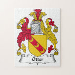 Otter Family Crest Jigsaw Puzzles