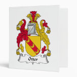 Otter Family Crest Vinyl Binder