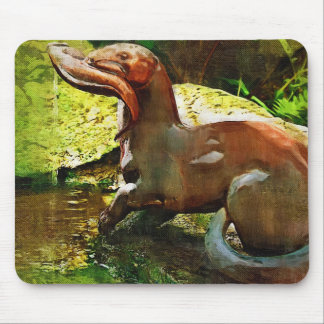 Otter Fishing by Pool, in Oil (2) Mouse Pad