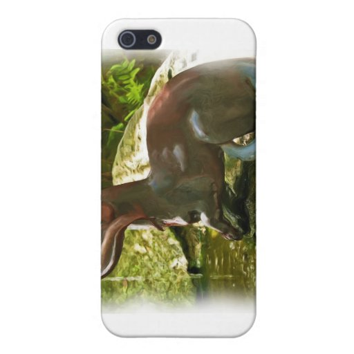 Otter Fishing by Pool, in Oil iPhone 5 Cases
