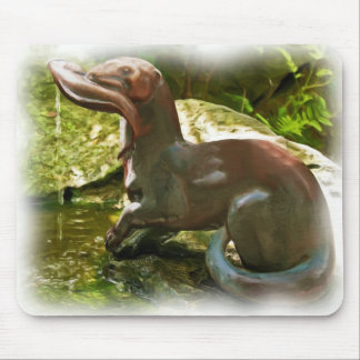 Otter Fishing by Pool, in Oil Mouse Pad