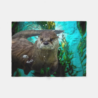 Otter Fleece Blanket