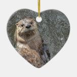 Otter Flip Turns Ceramic Ornament