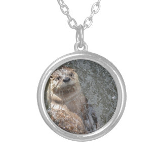 Otter Flip Turns Personalized Necklace
