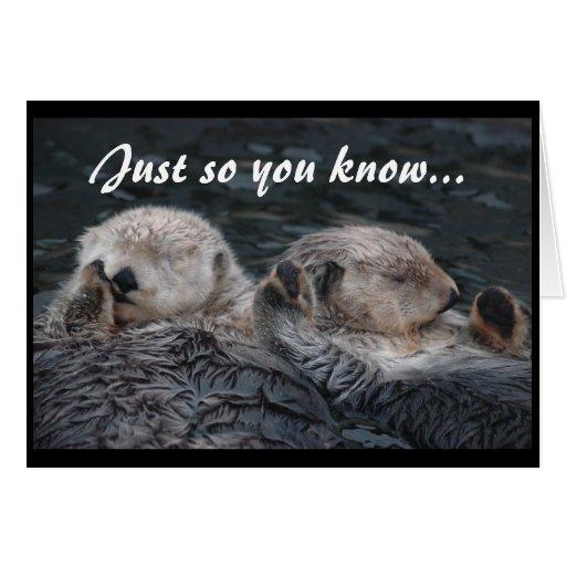 Otter Friends Card