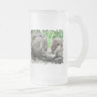Otter Habitat Frosted Beer Mug