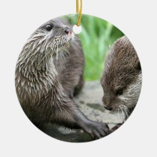 Otter Habitat Ornament