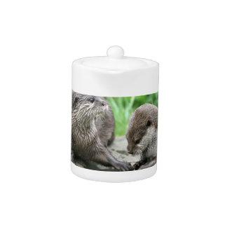 Otter Habitat Teapot