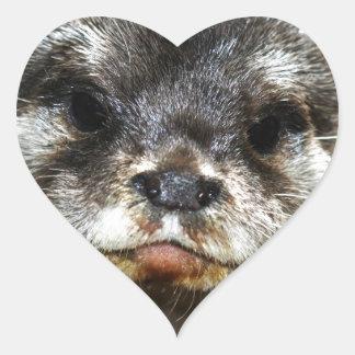 Otter Heart Sticker