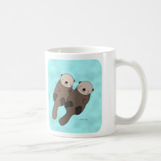 Otter Holding Hands Mug Cute Otter Couple Mug