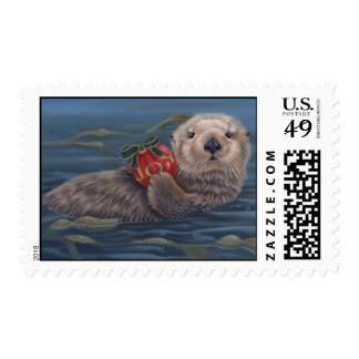 Otter Holiday Stamp