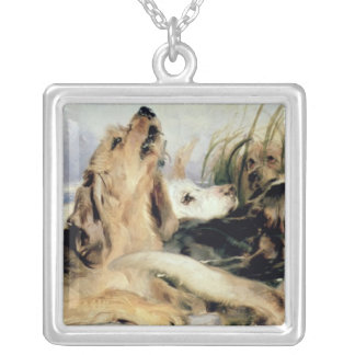 Otter Hounds Silver Plated Necklace