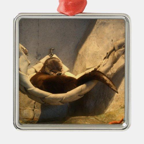 Otter in a Hammock Ornament