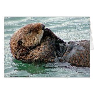 otter in prayer card