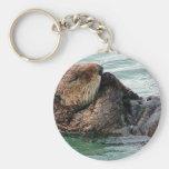 otter in prayer keychains