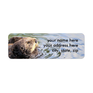 Otter in profile return address label