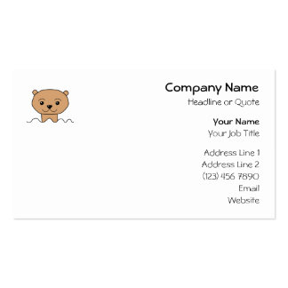 Otter in Water. Business Cards