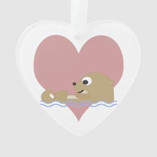 Otter Love Ornament