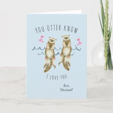 Otter Love Romantic Valentine Card