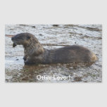 """""""Otter Lover"""" Wildlife Sticker Gifts"""