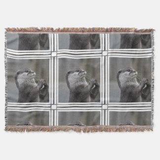 Otter Mastermind Throw Blanket