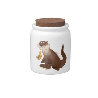 Otter n' Goldfish Candy Jar