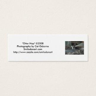 """Otter Nap"" Bookmark Mini Business Card"