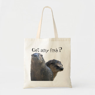 otter, otter 2, Get any fish? Budget Tote Bag