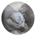 Otter Pair Party Plate